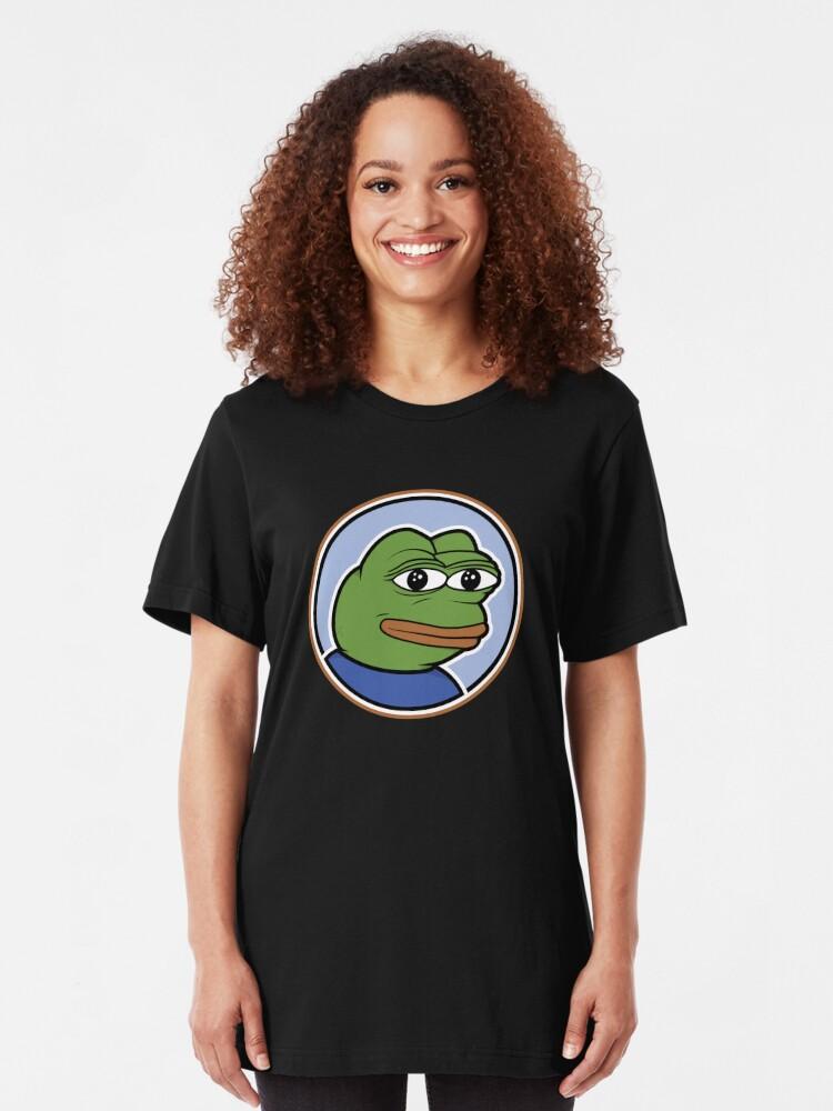Alternate view of Pepe The Frog Meme T Shirt Slim Fit T-Shirt