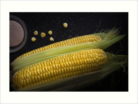 Organic raw corn and salt by OkoLaa
