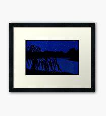 Lakeside Willow Framed Print