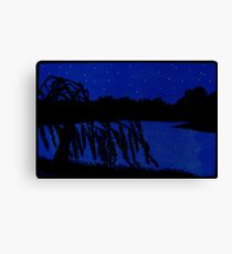 Lakeside Willow Canvas Print