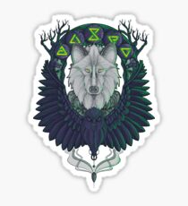 Raven and the Wolf Sticker