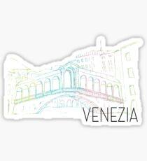 Pastel Venice Ponte Rialto Sticker