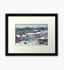 The Morning after a Big Snowstorm in Toronto, ON, Canada Framed Print
