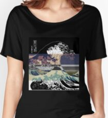 The Great Wave Hokusai Threshold Invert Women's Relaxed Fit T-Shirt