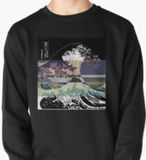 the great wave color glitch  Pullover