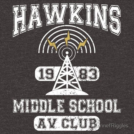 Hawkins Middle School Av Club T Shirts Redbubble