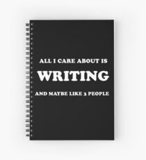 Author Humor Spiral Notebook