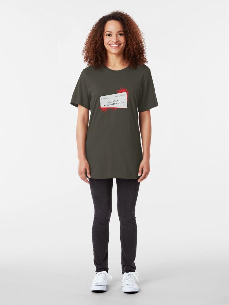 Alternate view of What would Patrick Bateman do? Slim Fit T-Shirt