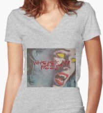 P Womens Fitted V Neck T Shirt