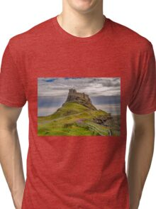 The Castle  Holy Island Tri-blend T-Shirt