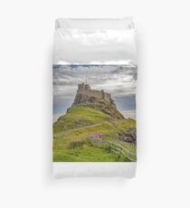 The Castle  Holy Island Duvet Cover