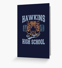 Stranger Things Tee - Go Tigers! Greeting Card