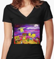 Nick At Night Women's Fitted V-Neck T-Shirt