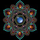 Purple and Teal Mandala with Gemstones by WelshPixie