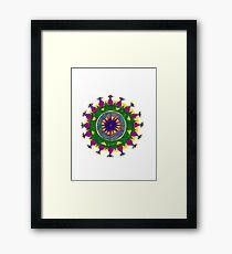 chakras mandala Framed Print