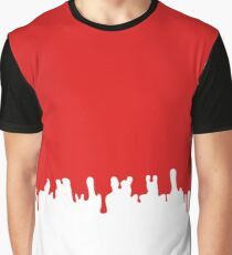 Dripping Red Blood Graphic T-Shirt