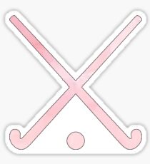 Field Hockey Pink Sticker