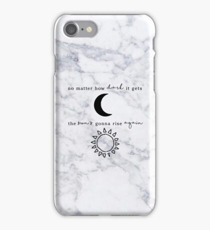 NO MATTER HOW DARK IT GETS MARBLE - MEREDITH GREY - GREY'S ANATOMY iPhone Case/Skin