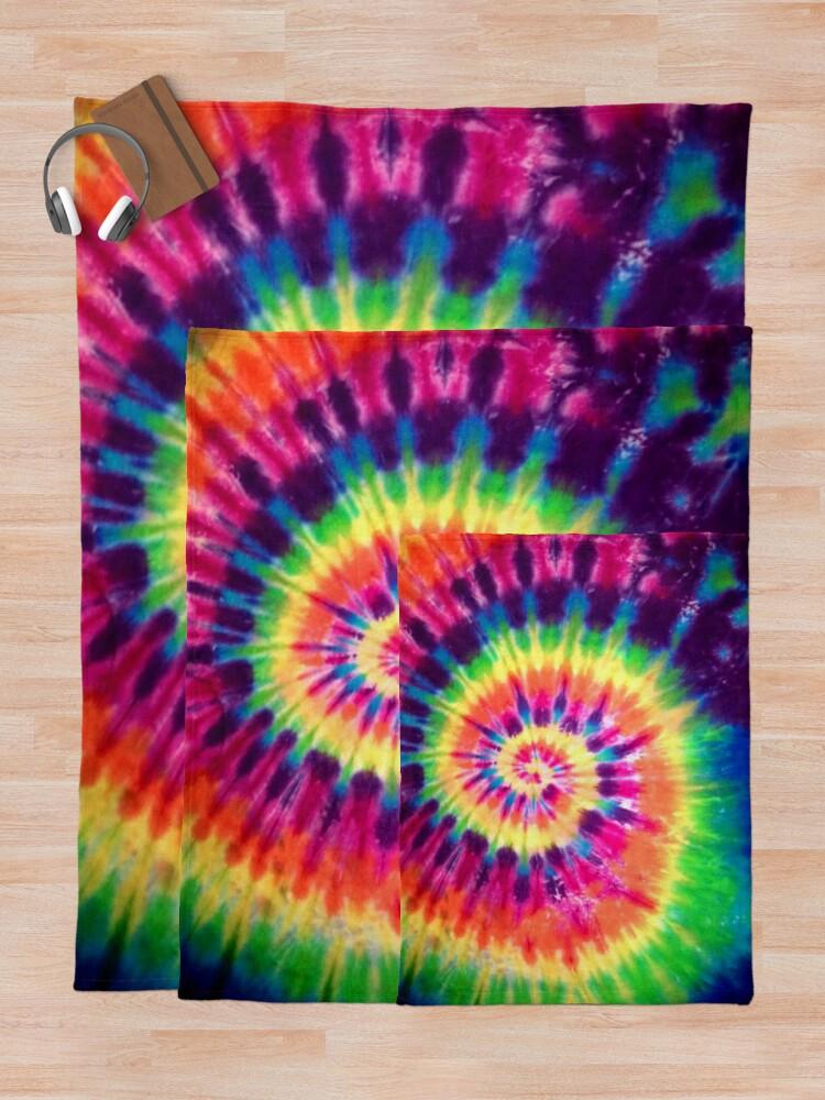 Alternative Ansicht von Tie Dye Fleecedecke