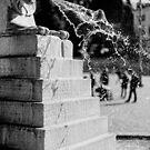 Fountain, Piazza del Popolo, Rome by Andrew Jones