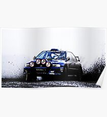 Subaru Rally Car Poster