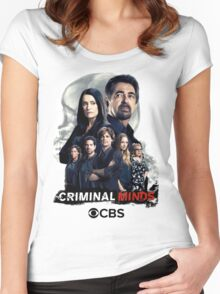 Criminal Minds Season 12 Promo Picture Women's Fitted Scoop T-Shirt