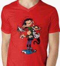 Gomer Goof T-Shirt mit V-Ausschnitt für Männer