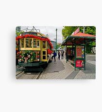 Christmas Tram - Christchurch New Zealand Canvas Print