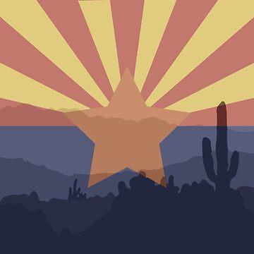 Arizona Flag by kwald12