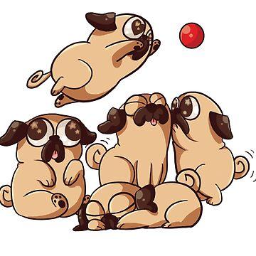 Pugs Play by GraySea