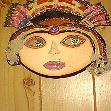 aztec mask, by MardiGCalero