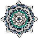 Blue, Green and Silver Mandala by WelshPixie