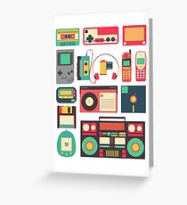 RETRO TECHNOLOGY 1.0 Greeting Card