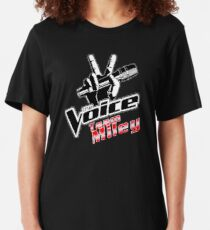 Team Miley - The Voice Slim Fit T-Shirt