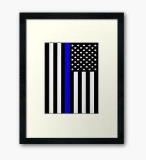 Police Flag Framed Print