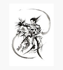 Aikido Martial Arts Large Poster Samurai Warrior Black and White Photographic Print