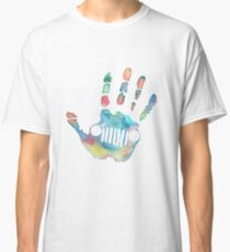 Watercolor Jeep wave Classic T-Shirt