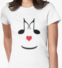 SOLD - FUN T-SHIRT FOR MUSIC LOVERS  Womens Fitted T-Shirt