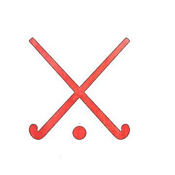 Feldhockey Rot von hcohen2000