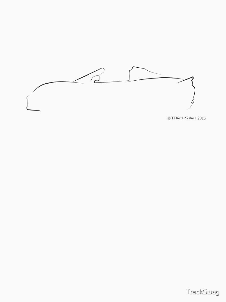 Profile Silhouette Lotus Elise - black by TrackSwag