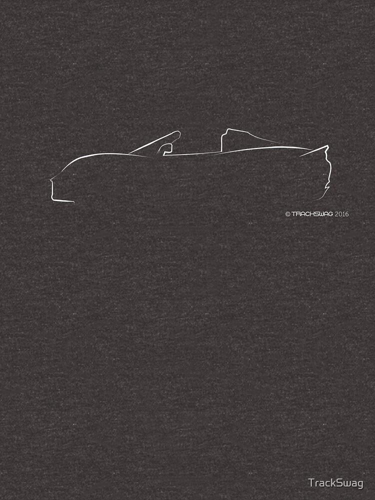 Profile Silhouette Lotus Elise - white by TrackSwag