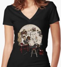Doctor Rockwell Women's Fitted V-Neck T-Shirt