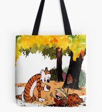 Calvin and Hobbes Treasure Hunter Tote Bag