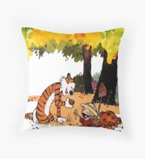 Calvin and Hobbes Treasure Hunter Throw Pillow