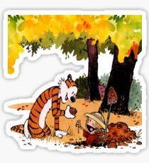 Calvin and Hobbes Treasure Hunter Sticker
