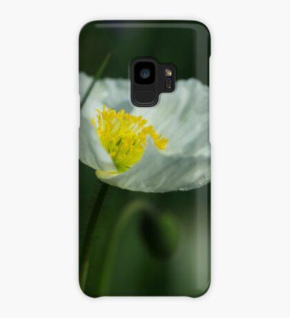 Good Morning White Poppy Case/Skin for Samsung Galaxy