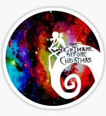 Jack Nightmare Before Christmas Moon Sticker