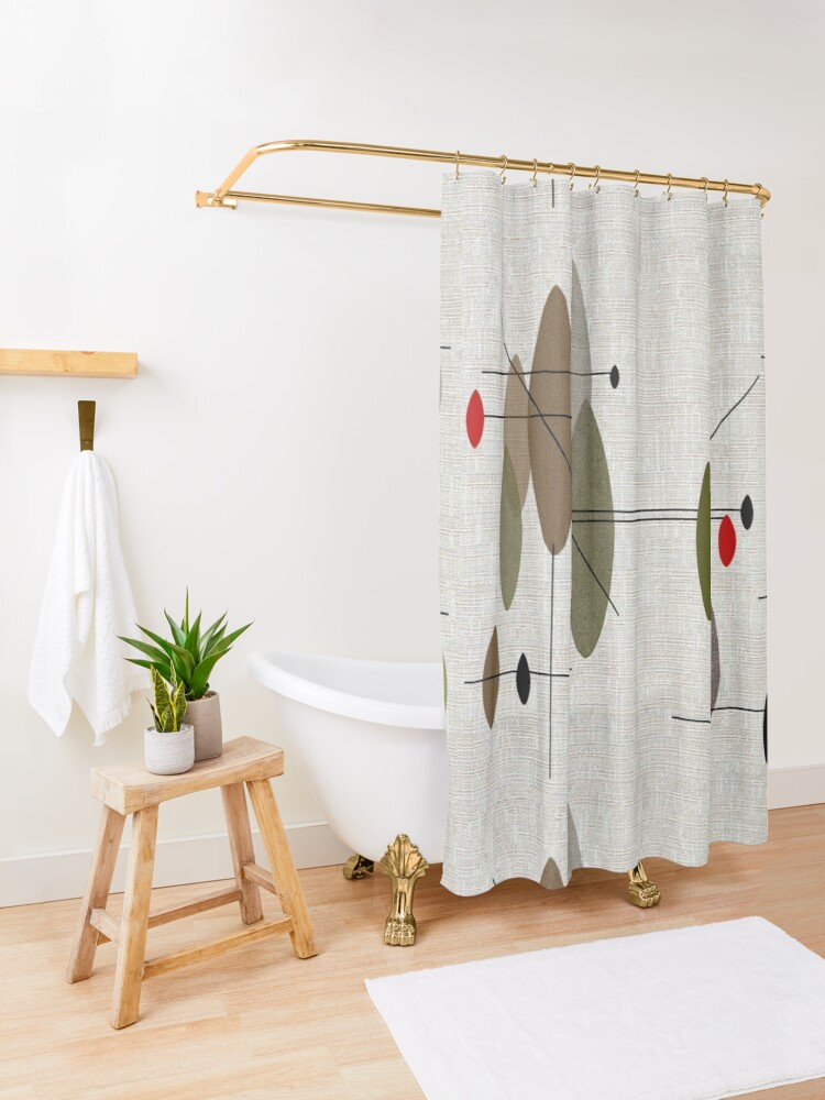 Alternate view of Hanging Orbs Shower Curtain