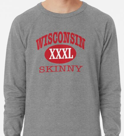 Wisconsin Skinny XXL Athletic RED Lightweight Sweatshirt