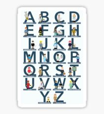 Careers Alphabet Sticker